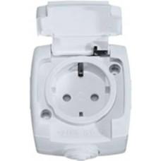 РОНДО О/У Белый Розетка с/з с защитными шторками 16А, IP44 | RA16-112B-BI | Schneider Electric