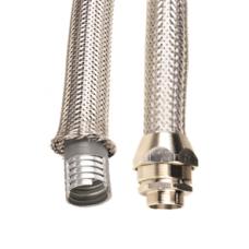 Металлорукав DN 12мм в гладкой EVA изоляции и оплетке из нержавейщей стали, Dвн 12,0 мм, Dнар 18,0, IP66, 50 м | 607ETX012 | DKC