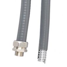 Металлорукав DN 10мм в гладкой EVA изоляции, Dвн 10,0 мм, Dнар 15,0, IP66, 50 м, цвет серый | 607E010 | DKC