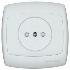 РОНДО С/У Белый Розетка б/з 10А (в сборе) | RS10-185-BI | Schneider Electric