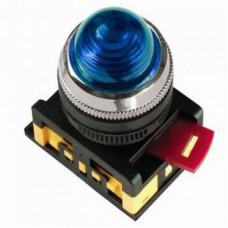 Лампа AL-22 сигнальная d22мм синий неон/240В цилиндр | BLS20-AL-K07 | IEK
