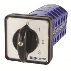 Кулачковый переключатель КПУ11-40/136 (0-1-2-3 3р) | SQ0715-0089 | TDM