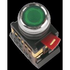 Кнопка ABLF-22 зеленый d22мм неон/240В 1з+1р   BBT10-ABLF-K06   IEK