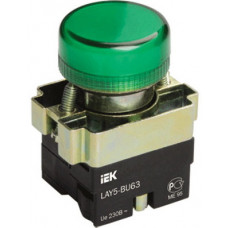 Индикатор LAY5-BU63 зеленого цвета d22мм | BLS50-BU-K06 | IEK