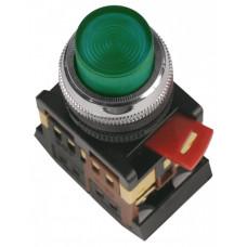 Кнопка ABLFP-22 зеленый d22мм неон/240В 1з+1р   BBT20-ABLFP-K06   IEK