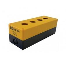 Корпус КП104 для кнопок 4места желтый | SQ0705-0009 | TDM