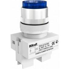 Лампа комм. ALTE 22 мм Цвет:СИНИЙ неон 220В ЛK-22 | 25010DEK | DEKraft