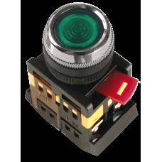 Кнопка ABLFS-22 зеленый d22мм неон/240В 1з+1р   BBT30-ABLFS-K06   IEK