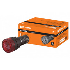 Сигнализатор звуковой AD22-22M/r31 d22 мм (LED) индикация 220В AC красный | SQ0746-0004 | TDM