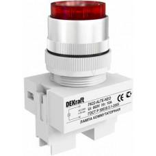 Лампа комм. ALTE 22 мм Цвет:КРАСНЫЙ неон 220В ЛK-22 | 25008DEK | DEKraft