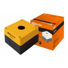 Корпус КП101 для кнопок 1место желтый | SQ0705-0006 | TDM