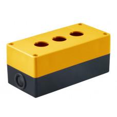 Корпус КП103 для кнопок 3места желтый | SQ0705-0008 | TDM