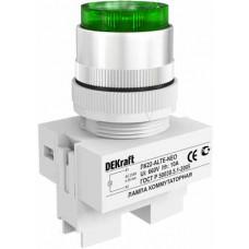 Лампа комм. ALTE 22 мм Цвет:ЗЕЛЕНЫЙ неон 220В ЛK-22 | 25007DEK | DEKraft