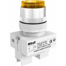 Лампа комм. ALTE 22 мм Цвет:ЖЕЛТЫЙ неон 220В ЛK-22 DE | 25009DEK | DEKraft
