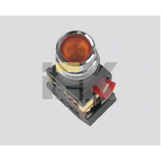 Кнопка ABLF-22 прозрачный d22мм неон/240В 1з+1р   BBT10-ABLF-K08   IEK