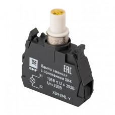 Лампа сменная c основанием XB4 желтая 230В EKF PROxima   XB4-EML-Y   EKF