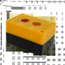 Корпус КП102 пластиковый 2 кнопки желтый EKF PROxima | cpb-102-o | EKF