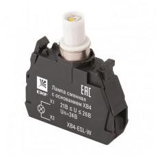 Лампа сменная c основанием XB4 белая 24В EKF PROxima   XB4-ESL-W   EKF