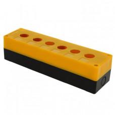 Корпус КП106 пластиковый 6 кнопок желтый EKF PROxima | cpb-106-o | EKF