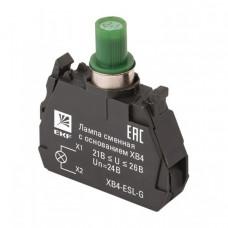 Лампа сменная c основанием XB4 зеленая 24В EKF PROxima   XB4-ESL-G   EKF