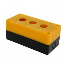 Корпус КП103 пластиковый 3 кнопки желтый EKF PROxima | cpb-103-o | EKF