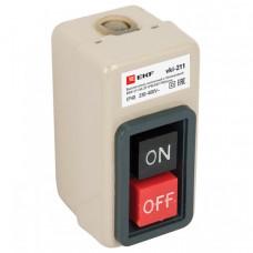 Выключатель кнопочный с блокировкой ВКИ-211 6А 3P IP40 EKF PROxima   vki-211   EKF