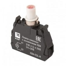 Лампа сменная c основанием XB4 красная 24В EKF PROxima   XB4-ESL-R   EKF