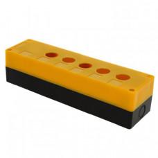 Корпус КП105 пластиковый 5 кнопок желтый EKF PROxima | cpb-105-o | EKF
