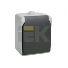 РСб20-3-ФСр Розетка одноместная с з/к для открытой установки IP54 Форс | ERS12-K03-16-54-DC | IEK