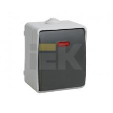 ВС20-1-1-ФСр Выключатель одноклавишный со свет. индикатором для открытой установки IP54 Форс | EVS11-K03-10-54-DC | IEK