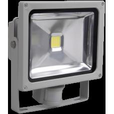 Прожектор светодиодный СДО 05-30Д SMD 30Вт 6500К IP44 серый, детектор   LPDO502-30-K03   IEK