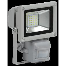 Прожектор светодиодный СДО 05-10Д (детектор) 10Вт 6500 IP44 серый SMD | LPDO502-10-K03 | IEK