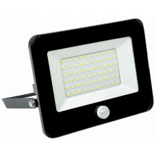 Прожектор СДО 06-50Д светодиодный черный с ДД IP54 6500 K|LPDO602-50-65-K02|IEK