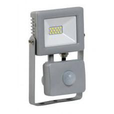 Прожектор светодиодный СДО 07-10Д 10Вт 6500 IP44 серый с ДД | LPDO702-10-K03 | IEK
