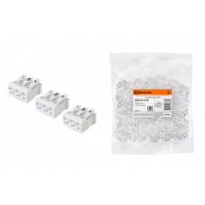 Клемма пружинная соединительная КСПн3-L+N+PE, 16 A, с монтажной ножкой | SQ0510-0109 | TDM