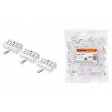Клемма пружинная соединительная КСПнз5-3L+N+PE, 16 A, с монтажной ножкой и заземлением под винт | SQ0510-0118 | TDM