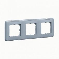 Cariva Жемчужно-серый Рамка 3-ая   773693   Legrand