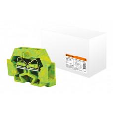 Микроклемма модульная МКМ 4мм2 желто-зеленая | SQ0822-0109 | TDM