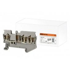 Зажим клеммный безвинтовой (ЗКБ) 3 вывода 1,5 мм2 17,5А серый | SQ0822-0022 | TDM