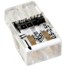 Клемма с пастой 2-проводная 0.5-2.5мм2 одножильный белый (уп/100шт)   2273-242   WAGO