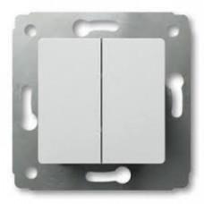 Cariva Белый Выключатель 2-клавишный   773658   Legrand