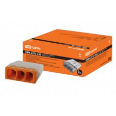 Строительно-монтажная клемма КБМ-2273-233 (2,5мм2) с пастой | SQ0517-0112 | TDM