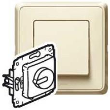 Cariva Сл. кость Светорегулятор поворотный 300W для л/н (вкл поворотом) | 773717 | Legrand
