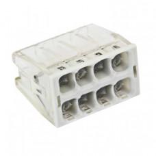 Строительно-монтажная клемма СМК 2273-248 (с пастой) 8 отверстий 0,5-2.5мм2 (50шт.) EKF PROxima   plc-smk-2273-248   EKF