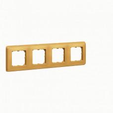 Cariva Матовое золото Рамка 4-ая   773664   Legrand