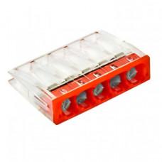 Строительно-монтажная клемма СМК 2273-245 (с пастой) 5 отверстий 0,5-2.5мм2 (100шт.) EKF PROxima   plc-smk-2273-245   EKF