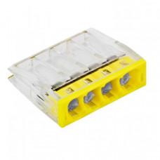 Строительно-монтажная клемма СМК 2273-244 (с пастой) 4 отверстия 0,5-2.5мм2 (100шт.) EKF PROxima   plc-smk-2273-244   EKF