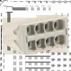 Строительно-монтажная клемма СМК-128 компактная 8 отверстий 0,5-2.5мм2 (50шт.) EKF   plc-smk-128   EKF