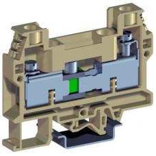 Клемма для вольтметра со скользящим размыкателем 10мм.кв бежевая | ZSB410 | DKC