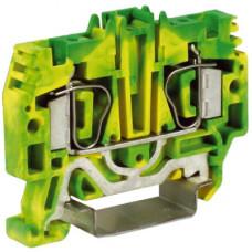 HTE.4, зажим для заземления, 4 кв.мм желто-зеленый   ZHT250-RET   DKC